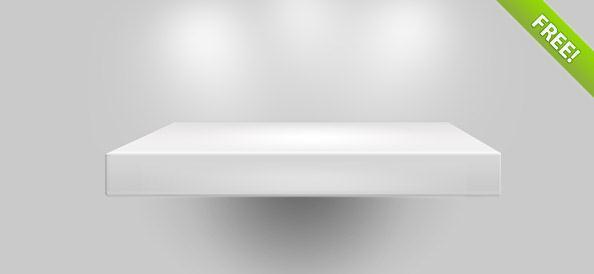 White shelf PSD file