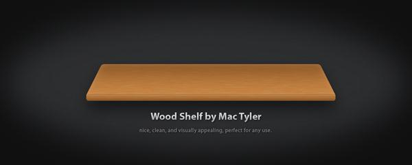 Wooden shelves PSD files for free