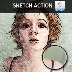 Free Photoshop Sketch Action psd-dude.com Resources