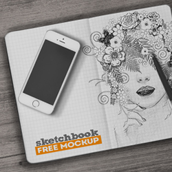 Sketchbook Mockup Free PSD psd-dude.com Resources