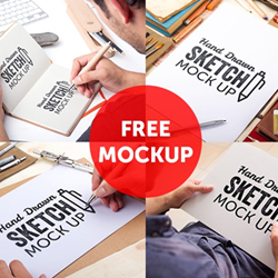 Sketchbook PSD Mockups to Display Your <span class='searchHighlight'>Sketches</span> psd-dude.com Resources
