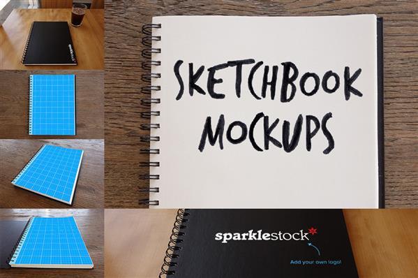 4 Photorealistic Sketchbook Mockups