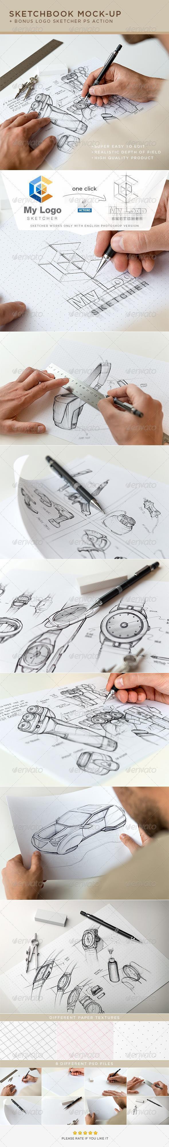 Architect and Designer Sketch Mockups