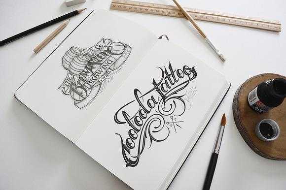 Artist Sketch Book Mockup