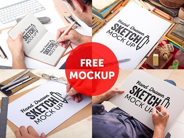 Sketch Mockup Free PSD