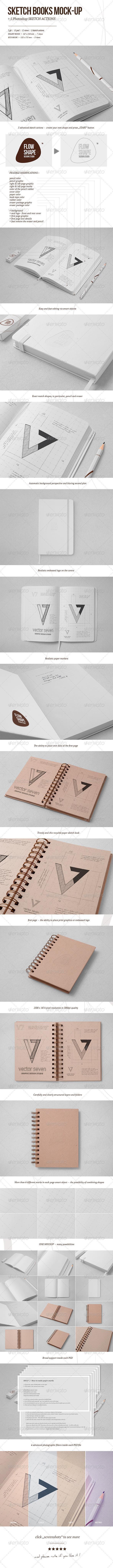 Sketchbook Mockup Template PSD