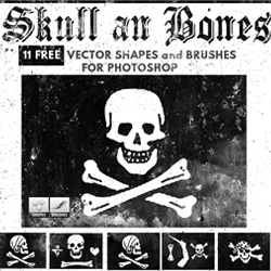 Skull and Bones Brushes and Vector for Photoshop psd-dude.com Resources
