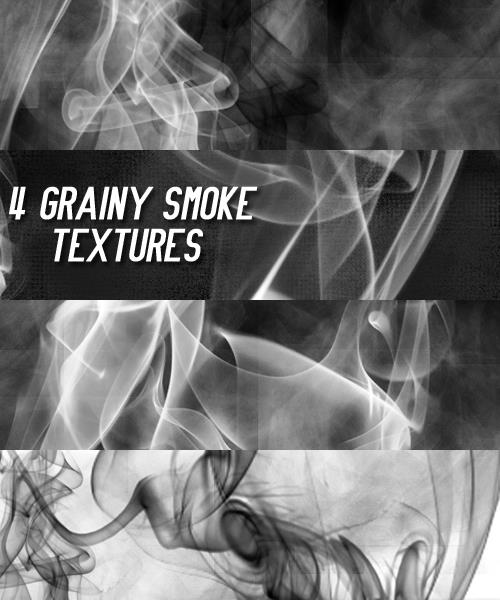 4 Grainy smoke textures by chamkilli photoshop resource collected by psd-dude.com from deviantart