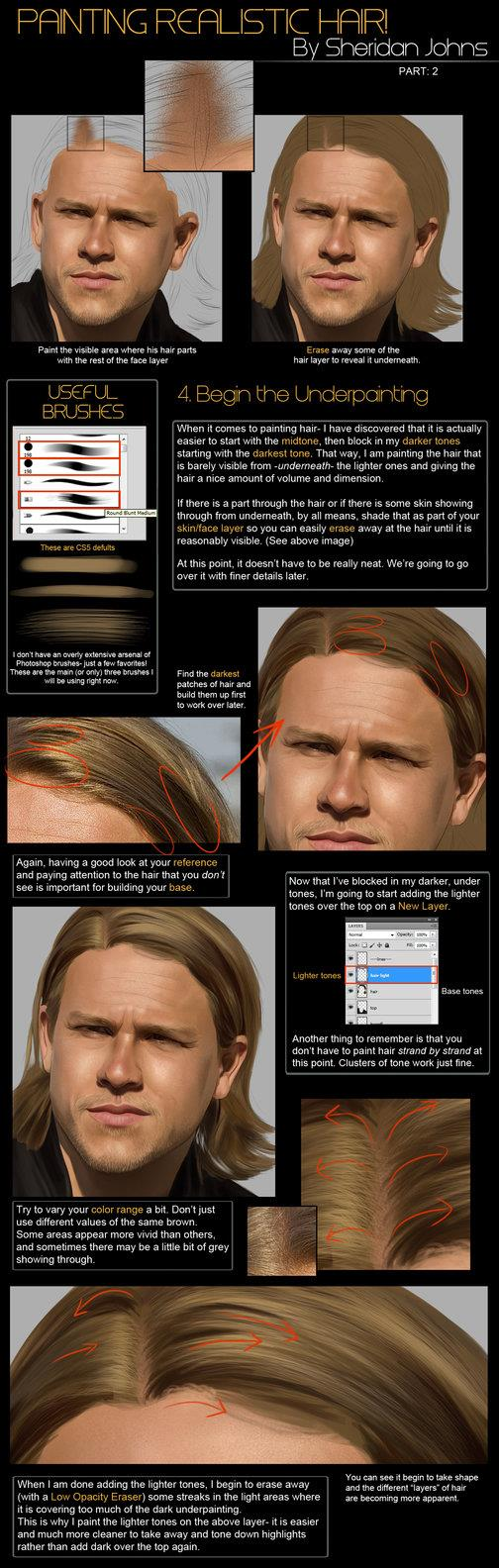 Painting Hair Part 2 Base by Sheridan-J photoshop resource collected by psd-dude.com from deviantart