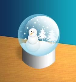 Create a Snow Globe in Photoshop