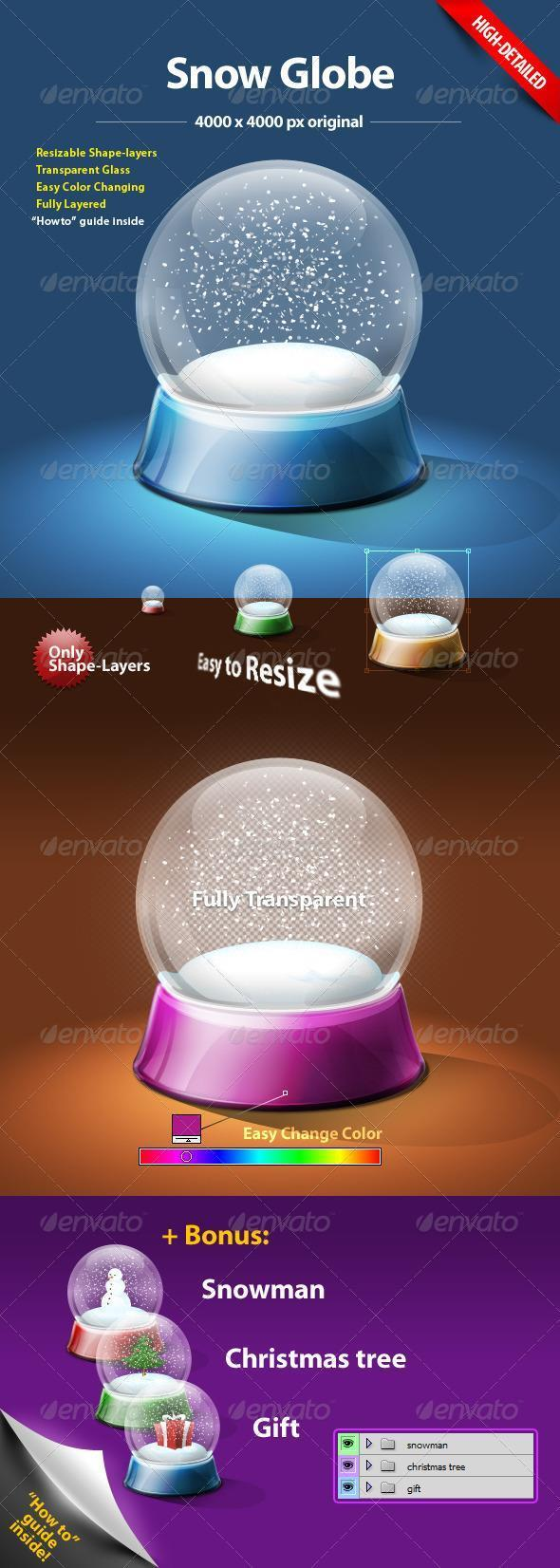 Snowglobe Photoshop Creator Kit