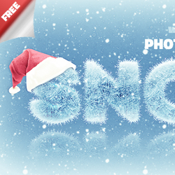 Ice and Snow Photoshop <span class='searchHighlight'>Text</span> Style Freebie | PSDDude psd-dude.com Resources
