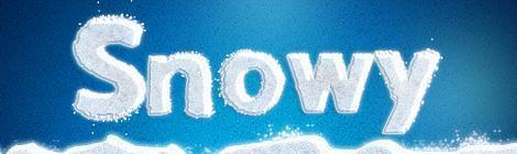 Create a white snow text effect in Photoshop