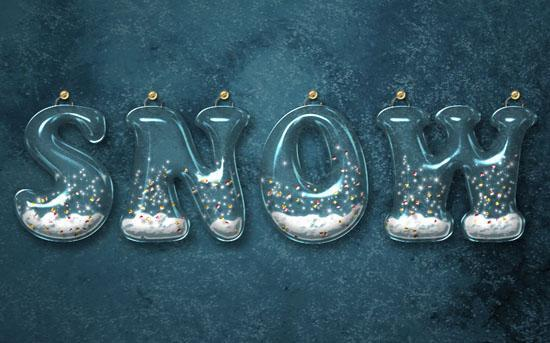 Glossy snow globe text effect in Photoshop