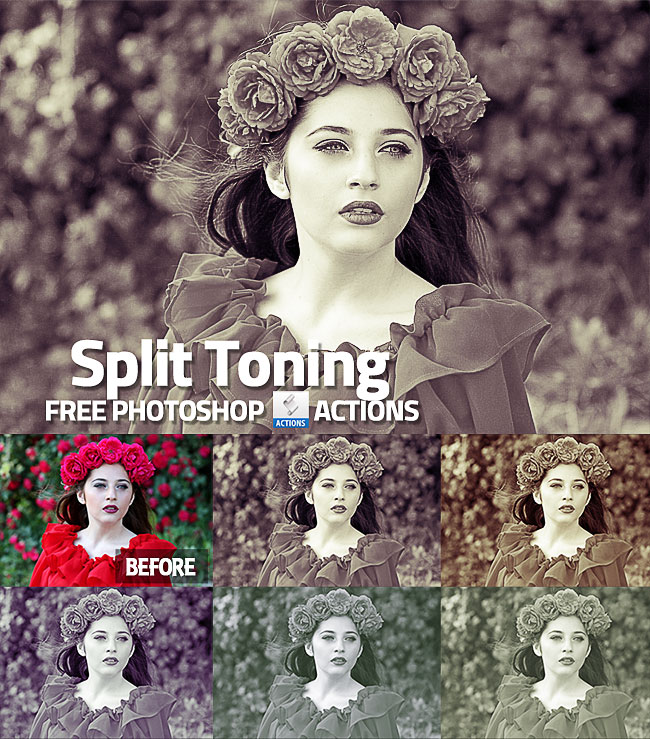 split tone effect Photoshop action free download