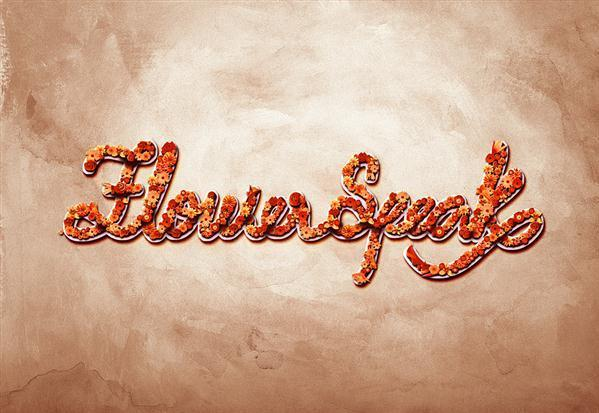 Beaitiful Flower Typography