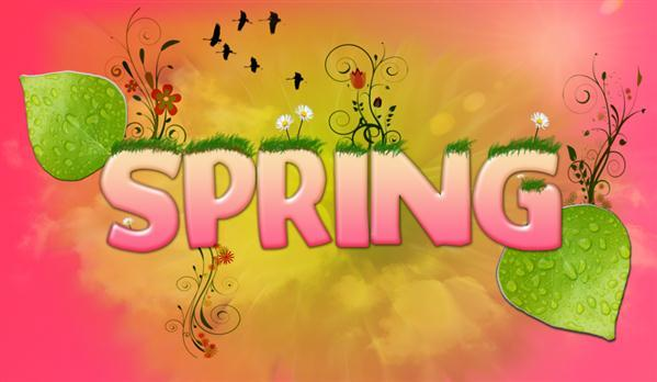 Colorful Spring Text Typography