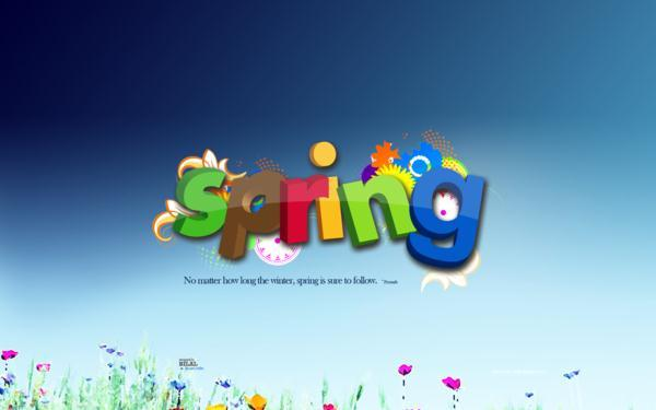 Colorful Spring Typography