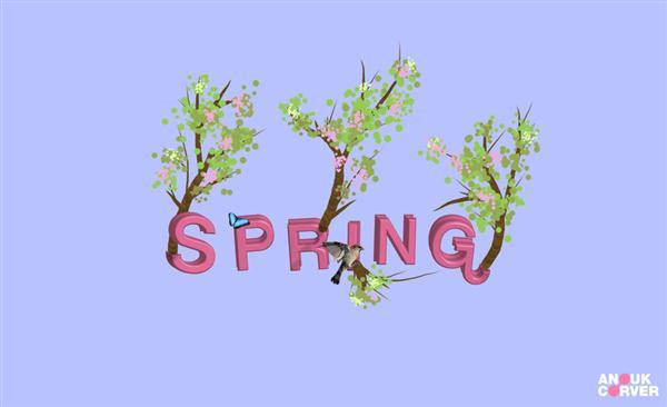 Cute Spring Inspired Typography
