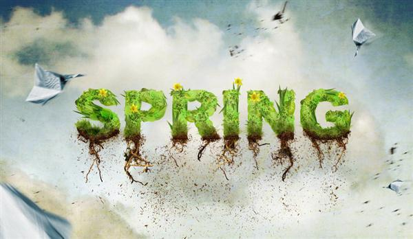 Spring Time Typography