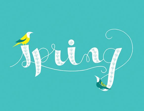 Spring Type Typography