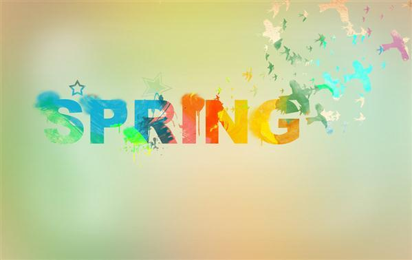 Spring Watercolor Typography