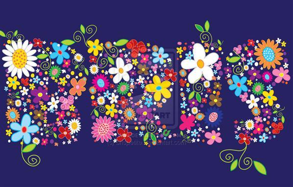 Sweet Floral Typography