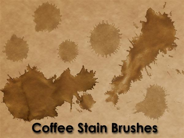 Coffee Stain BrushesAirmail Brushes for PhotoshopCoffee Stain Brushes by KnightRanger photoshop resource collected by psd-dude.com from deviantart