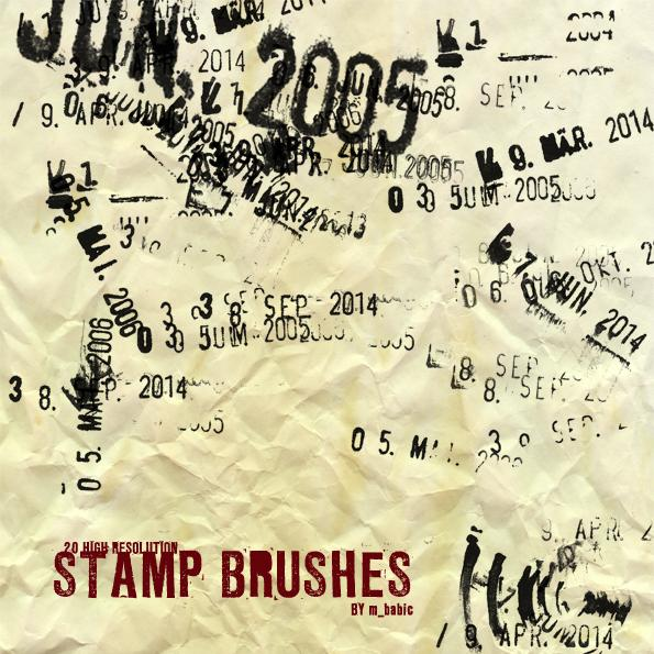 20 highresstamp brushes by jonas013 photoshop resource collected by psd-dude.com from deviantart