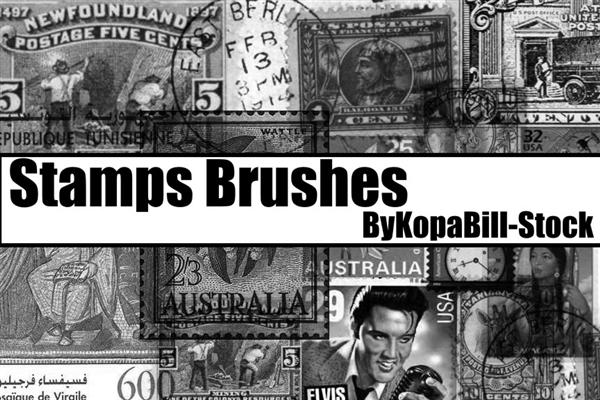 Stamps Brushes by KopaBill-Stock photoshop resource collected by psd-dude.com from deviantart