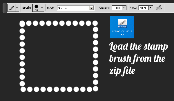 Stamp Brush Photoshop