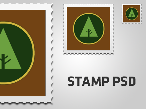 Free PSD Stamp Template
