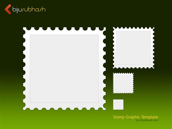 Stamp Template PSD
