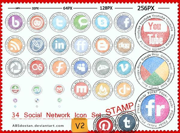 Free Stamp Social Network Icons