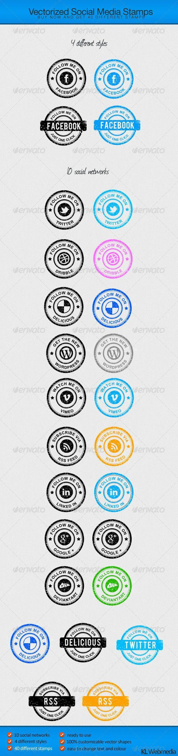 Rubber Stamp Social Icons