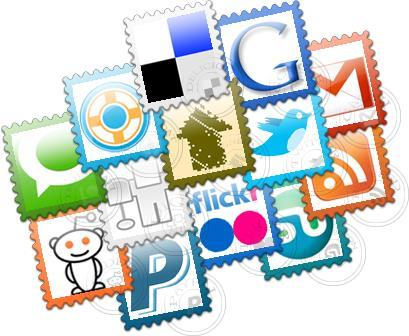 Social Post Stamps Free Icon Set