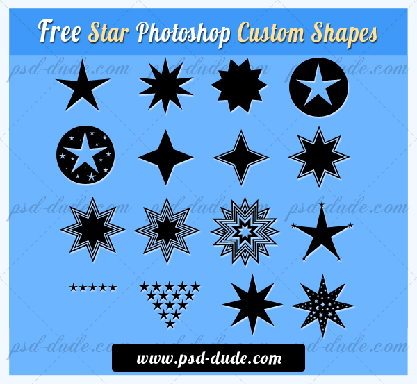 Star Shapes for Photoshop