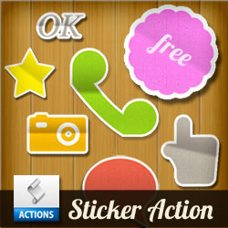 <span class='searchHighlight'>Sticker</span> Photoshop Action | PSDDude psd-dude.com Resources