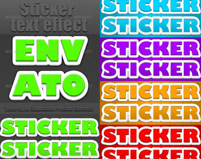 3D Sticker Photoshop Embossed and Pressed Styles