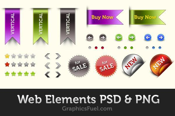 Sticker and Ribbon PSD