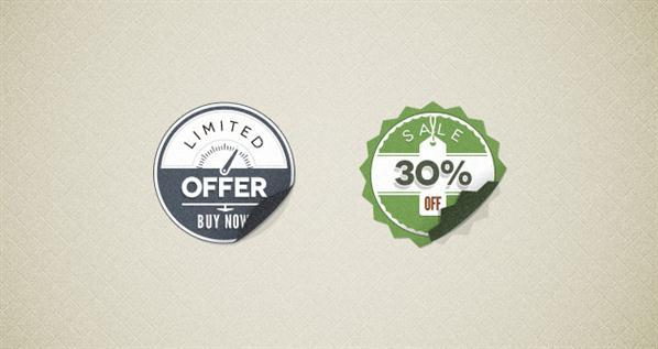 Vintage Badge Sticker PSD