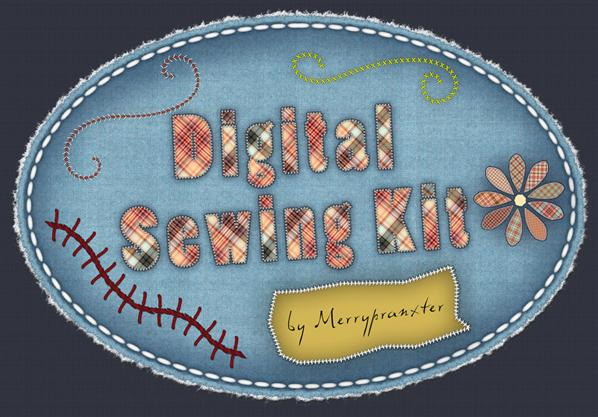 Digital Sewing Kit by merrypranxter photoshop resource collected by psd-dude.com from deviantart