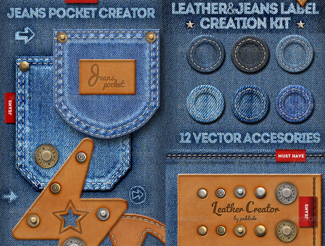 stitched jeans denim photoshop action free download