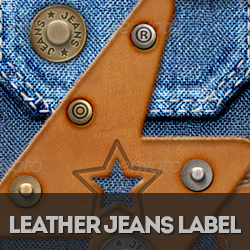 Stitched Leather Jeans Label Photoshop Creation Kit psd-dude.com Resources