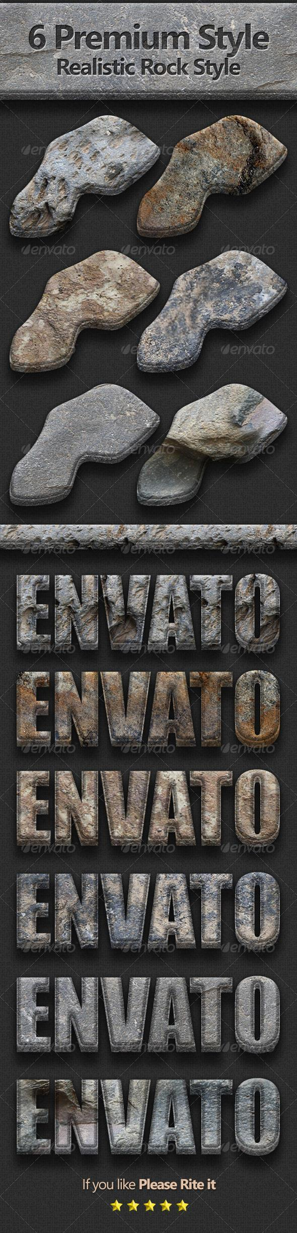 3D Realistic Stone Photoshop Text Styles