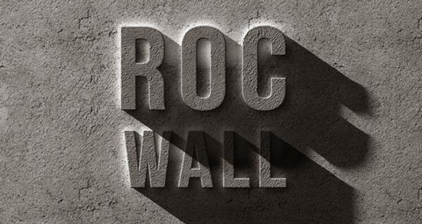 Concrete Rock Text Effect PSD Mockup