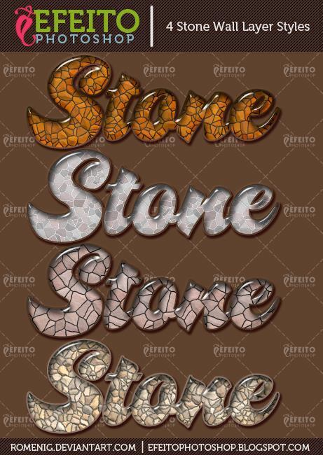 Polished Stone Photoshop Styles