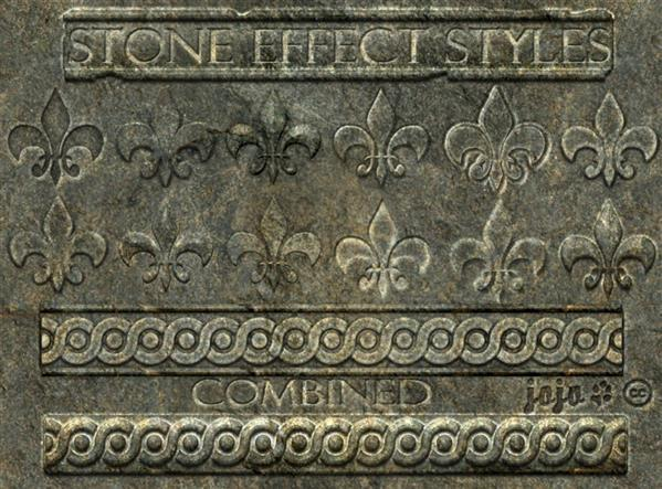 Stone effect Photoshop styles