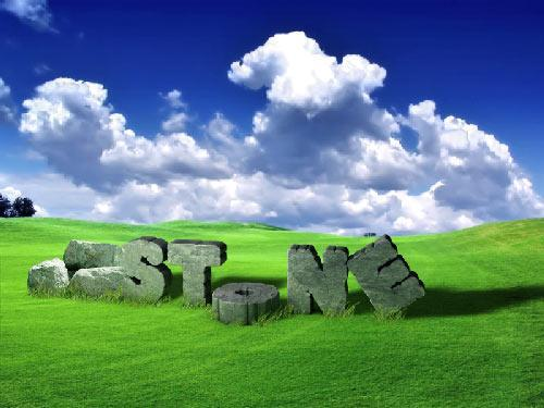 Cracked 3d Stone text effect with Photoshop and Cinema 4d