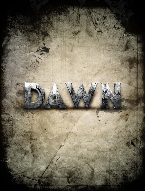 Dawn of war style concrete text effect in Photoshop